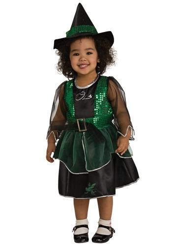 Disfraz de bruja malvada para niños pequeños