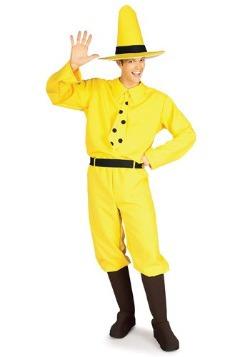 Disfraz de hombre con sombrero amarillo