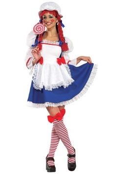 Disfraz de muñeca de trapo alegre para adulto